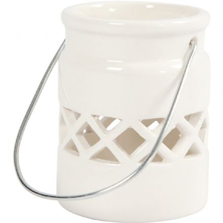 Glazed Porcelain Hanging Candle Lantern
